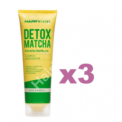 Шампунь Happy Hair Detox Matcha 250 мл 3 шт